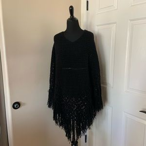 Rue 21 Black Poncho One Size Fits Most